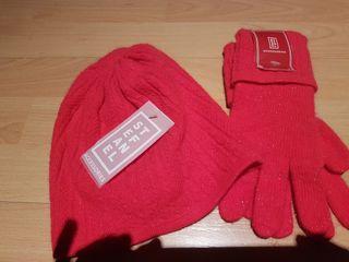 juego de gorro y guantes