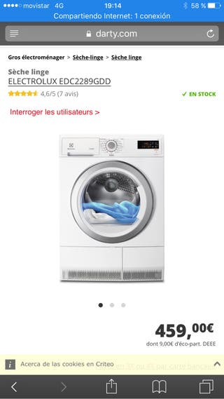 Secadora electrolux