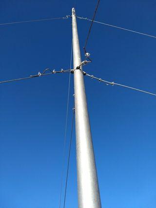 Poste para molino eolico