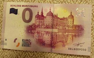 Billete 0 Euros - Palacio Mortizburg - Alemania