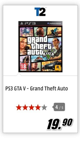 PS3. Grand Theft Auto V (GTA V)