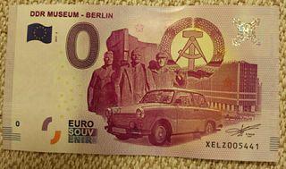 Billete 0 Euros - Museo DDR Berlín