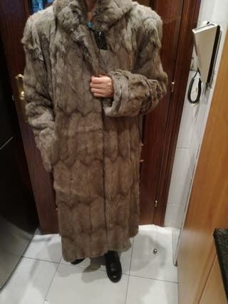 abrigo piel original chinchilla, XL mujer