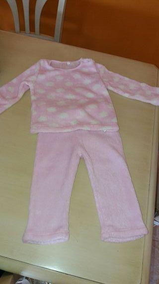 pijamas 2 piezas niña 80 cm.
