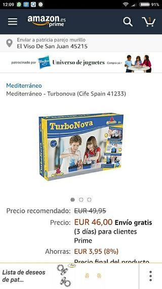 turbonova juguete nuevo