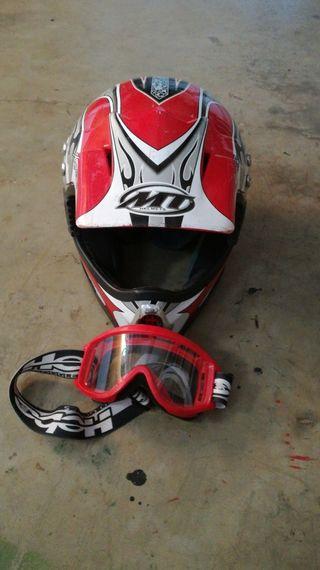 casco motocross de niño