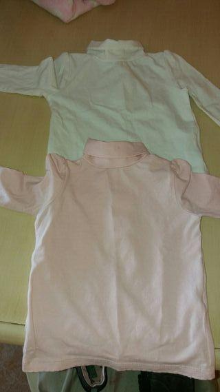lote camisetas cuello alto bebe 80cm