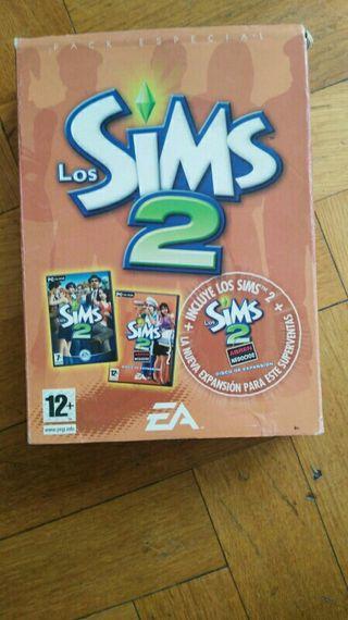 los sims 2 para ordenador 5 cds, incluye expansion