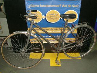 bicicleta clásica Orbea, pintada en gris