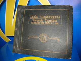 lote de discos pizarra estuche Doña francisquita