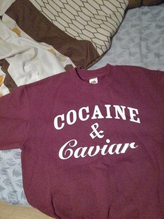sudadera cocaine y caviar poco uso