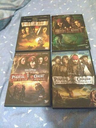 Pack Peliculas Piratas del Caribe Disney DVD