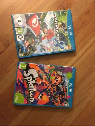Mario Kart 8 y Splatoon Wii U