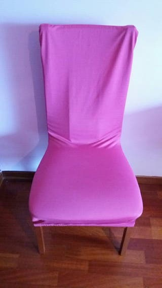 Funda silla color rosa