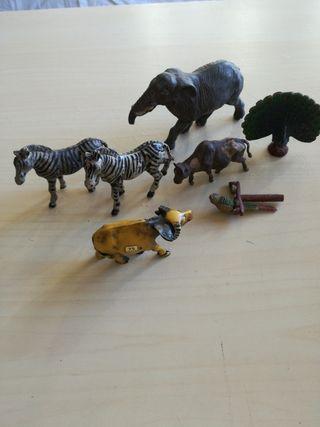 Figuritas muy Antiguas. Juguetes. Animales