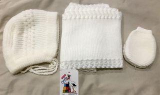 Capota bufanda NUEVO manoplas ropa bebé primera puesta