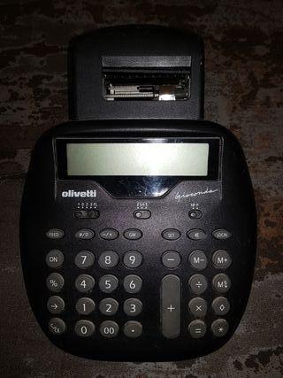 Calculadora Olivetti Impresión + 8 rollos papel
