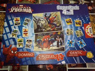 puzzle superparck 4en 1 de Spider-Man