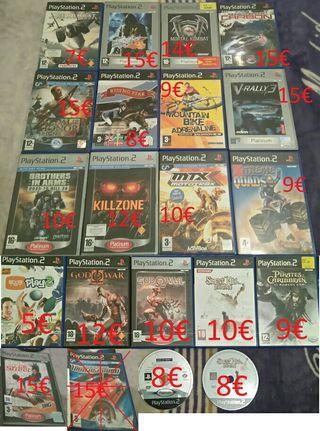 JUEGOS PS2 PLAY 2 COMO NUEVOS COMPLETOS