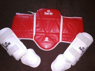 Lote protecciones taekwondo/artes marciales.