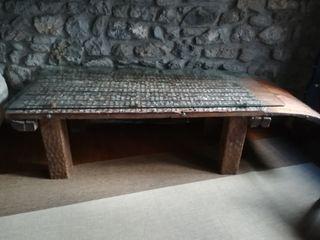 mesa de trillo baja,centro sofas