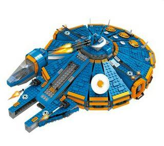 Nave tipo Halcon Milenario, compatible con Lego.