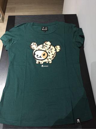 Camiseta top tokidiki talla M verde