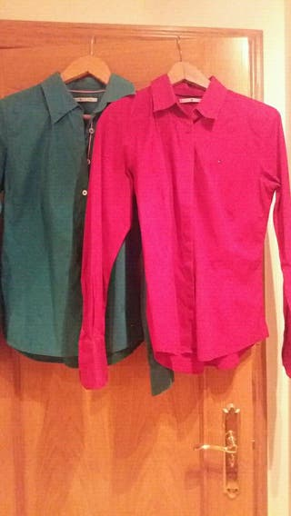 Lote 2 camisas Sra Tommy Hilfiger