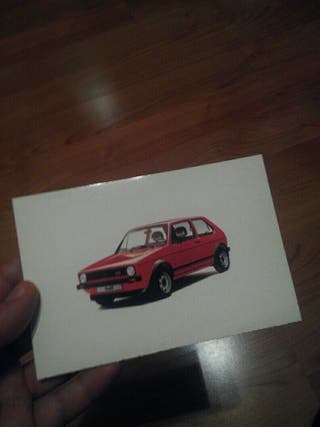 Postal desplegable Volkswagen Golf