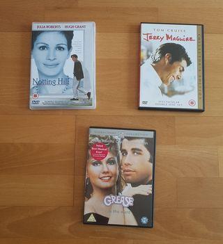 Pack of 3 Romantic Comedies in Original DVDs