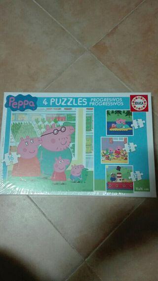 LIQUIDACION!!! 4 puzzles progresivos de Peppa Pig