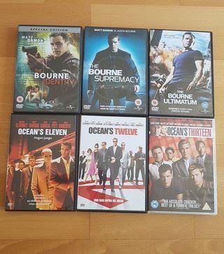 Pack of 6 Original DVD - Double Matt Damon Trilogy