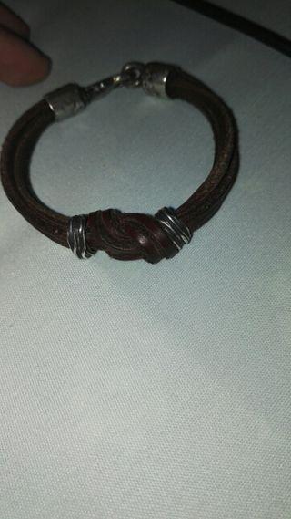 pulsera plata de palo