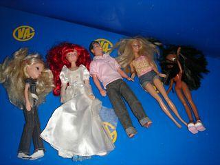 lote 5 muñecas diferentes observa las fotos