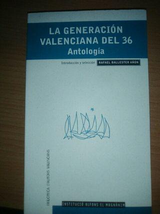 LA GENERACIÓN VALENCIANA DEL 36. ANTOLOGÍA