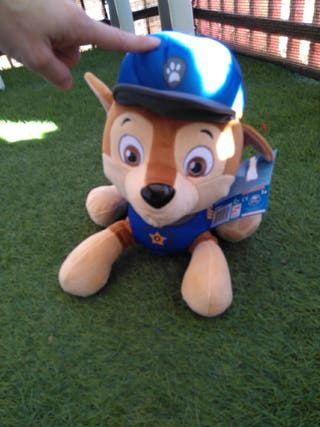 Peluche mochila Paw Patrol Chase patrulla canina