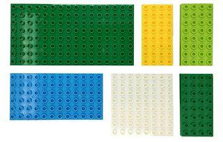 bases grandes lego duplo colores variados nueva