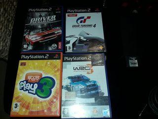 Consola playstation más 4 juegos
