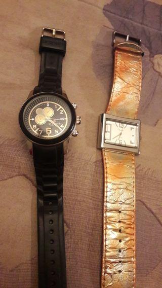Reloj Brenatt negro y reloj naranja regalo