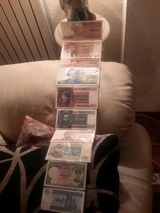 billetes de Birmania