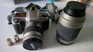Cámara analógica Nikon F65 + Teleobjetivo