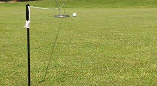 entrenamiento línea de putt golf