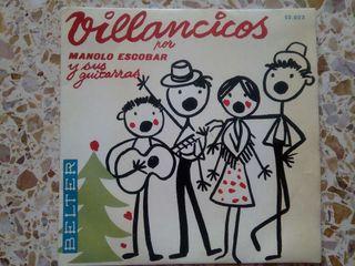Disco vinilo. Villancicos por Manolo Escobar y sus guitarras. Belter
