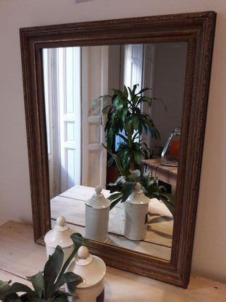 Espejo madera Becara