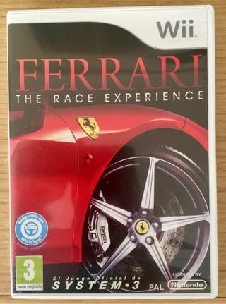 Juego Wii Ferrrari The Race Experience