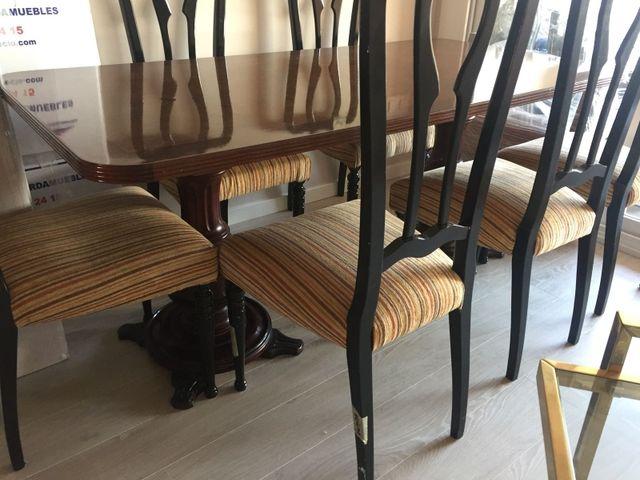 Mesa comedor clásica con 6 sillas de segunda mano por 475 € en ...