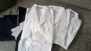 3 camisas, pantalon, uniforme