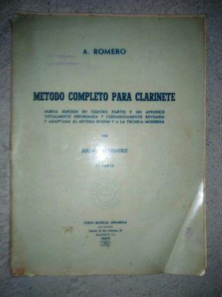 A. Romero: Metodo completo para clarinete,1ª parte