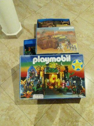 fuerte de Playmobil y castillo