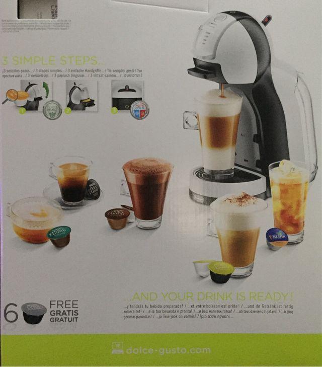 Cafetera Automatica Dolce Gusto Mini-Me Blanca Sistema Capsulas DeLonghi.